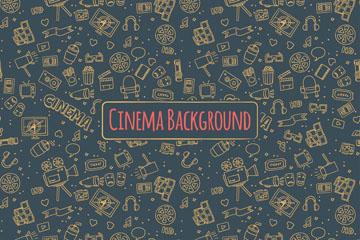 暗金色电影元素无缝背景乐虎国际线上娱乐图