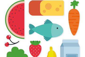 9款彩色食物设计矢量素材
