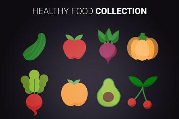 12款彩色健康食物矢量素材