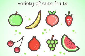 11款可爱水果设计矢量素材