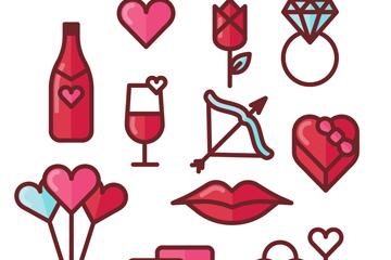 12款创意爱情元素矢量素材