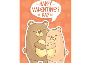 可爱拥抱的情侣熊贺卡乐虎国际线上娱乐乐虎国际
