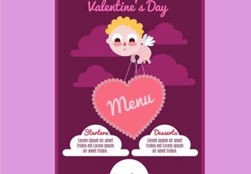 创意调皮丘比特菜单设计乐虎国际线上娱乐图