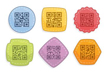 9款彩色四维码设计矢量素材