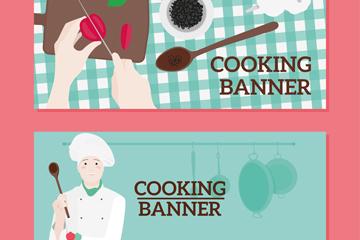 2款创意烹饪元素banner矢量素材