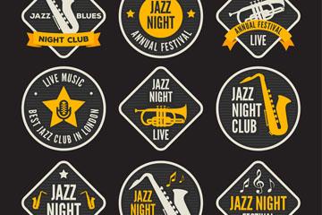 9款创意音乐俱乐部标签矢量素材