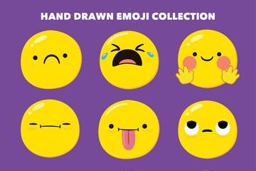 9款可爱圆脸表情矢量素材