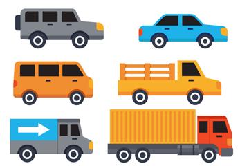 7款彩色车辆设计矢量素材