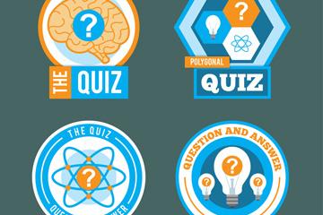4款创意小测试标签矢量素材