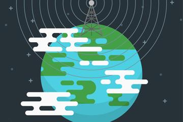 创意世界广播日的广播电视发射塔