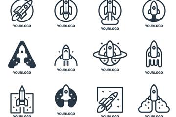 12款创意火箭标志矢量素材