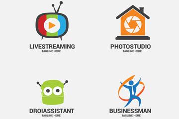 4款创意商务标志矢量素材