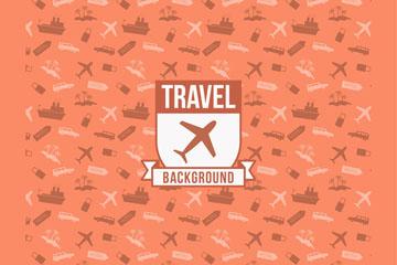 创意旅行工具无缝背景矢量素材