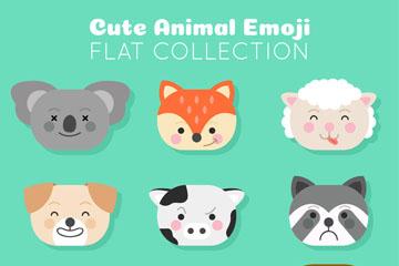 9款可爱动物表情头像矢量素材