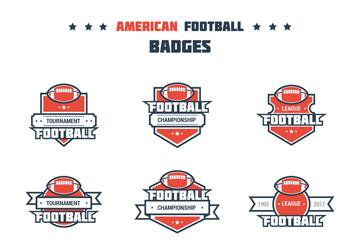 9款创意美式橄榄球徽章矢量图