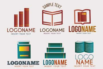 6款创意书籍标志矢量素材