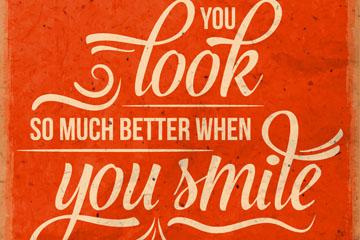 创意你笑起来很好艺术字矢量素材
