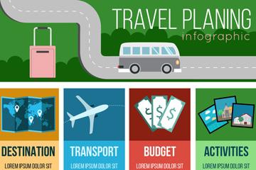 创意旅行计划信息图矢量素材
