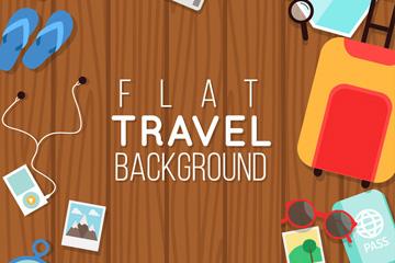 15款彩色扁平化旅行元素矢量素材