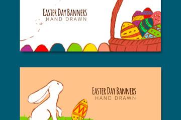 2款彩�L�突罟�兔子和彩蛋banner