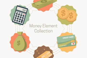 6款��意金融元素矢量素材