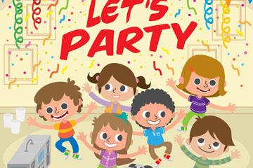 创意派对上的6个儿童乐虎国际线上娱乐乐虎国际