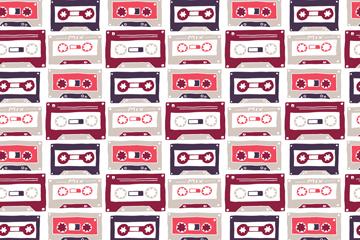 复古磁带无缝背景乐虎国际线上娱乐乐虎国际