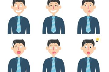 6款创意商务男子表情乐虎国际线上娱乐乐虎国际