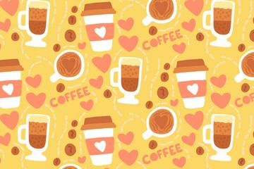 创意咖啡元素无缝背景乐虎国际线上娱乐图