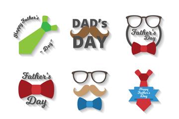 9款质感父亲节快乐标签矢量图