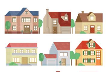9款创意住宅设计矢量素材