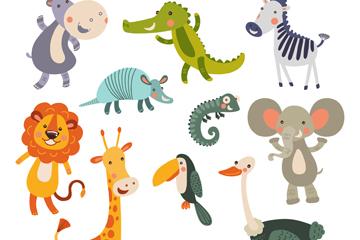 11款可爱动物设计矢量素材