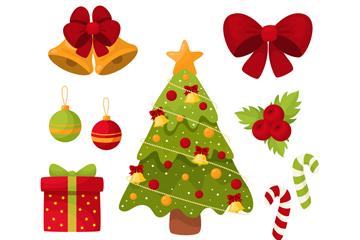 9款彩色圣诞元素矢量素材
