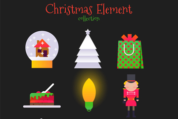 9款创意圣诞节图标矢量素材
