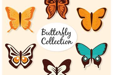 5款精美彩色蝴蝶矢量素材