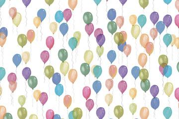 彩绘气球无缝背景矢量素材