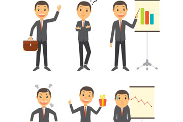 6款创意商务男子设计矢量素材