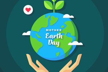 精致世界地球日地球矢量素材