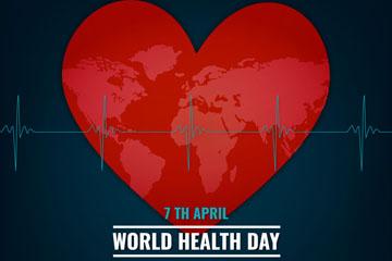 创意世界健康日爱心矢量素材