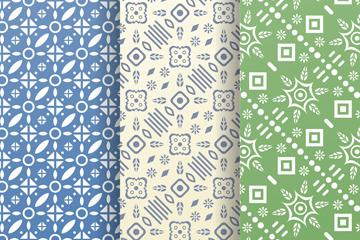 3款素色花纹无缝背景矢量素材