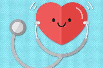 可爱世界健康日爱心矢量素材