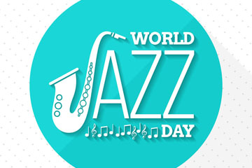 精致国际爵士乐日贺卡矢量素材