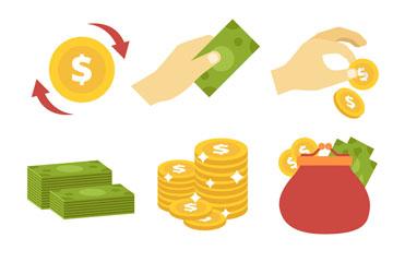 9款创意金融图标矢量素材