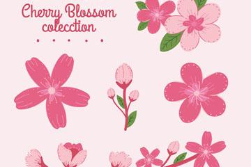 6款粉色樱花和花枝矢量优发娱乐