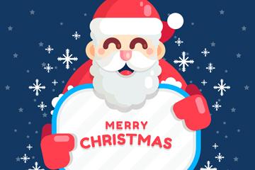 可爱圣诞老人贺卡矢量素材