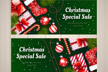 2款精美圣诞节特价促销banner矢