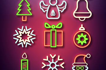9款彩色圣诞元素图标矢量素材