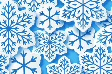 创意质感雪花无缝背景矢量素材