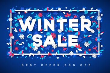 创意冬季促销海报矢量素材