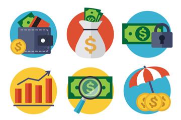 9款创意金融元素图标矢量素材